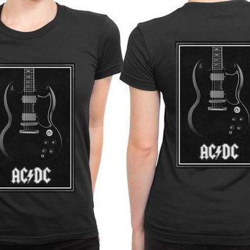 VONEED6 ACDC Guitar 2 Sided Womens T Shirt