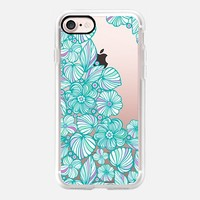Turquoise flowers iPhone 7 Carcasa by Julia Grifol Diseñadora Modas-grafica | Casetify