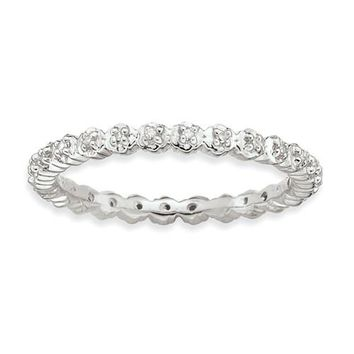 Sterling Silver Stackable Expressions Diamond Eternity Ring