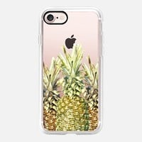 Pineapple Paradise (Transparent) iPhone 7 Case by Lisa Argyropoulos | Casetify