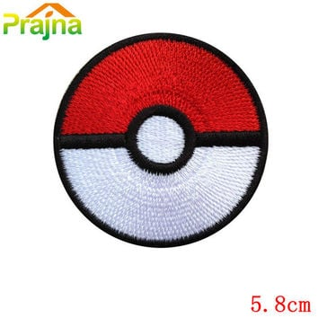 Cute Pet Pokemon Ball Patches Kids Cartoon Iron On Patches Pokemon Badges Cheap Embroidered Patches For Clothing Stickers
