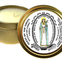 Blessed Virgin Mary Queen of Saints Mother of God 6 Oz Scented Soy Candle