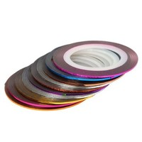 30Pcs Mixed Colors Rolls Striping Tape Line Nail Art Tips Decoration Sticker from Y2B:Amazon:Beauty