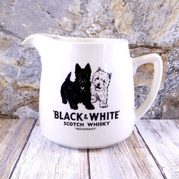 Buchanan's Black and White Scotch Whiskey Pitcher Jug
