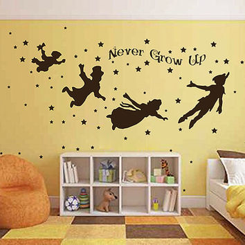 kik2799 Wall Decal Sticker Peter Pan fairy tale of Big Ben room children's bedroom
