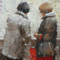 Andre Kohn At The Market [Andre Kohn_A7169] - $99.00 oil painting for sale|Wonderful artwork|Buy it at once.
