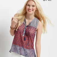 Aeropostale  Sheer Sleeveless Hi-Lo Peasant Top
