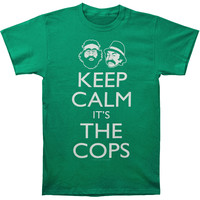 Cheech & Chong Men's  Keep Calm T-shirt Green Rockabilia
