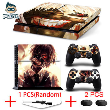 Japanese Anime Tokyo Ghoul Vinyl Decal Skin Sticker for Play Station 4 PS4 Console + 2 Controllers Skins + 1 Lightbar Skin
