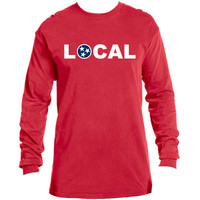 Adult Tennessee Local on a Red Long Sleeve Shirt