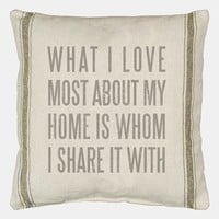 Primitives by Kathy 'What I Love Most' Pillow