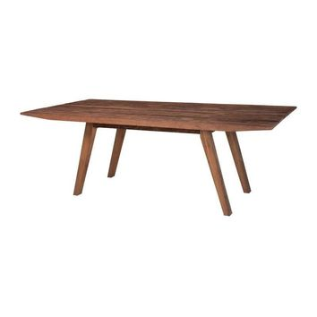 Reclaimed Wood Rectangle Dining Table Brown