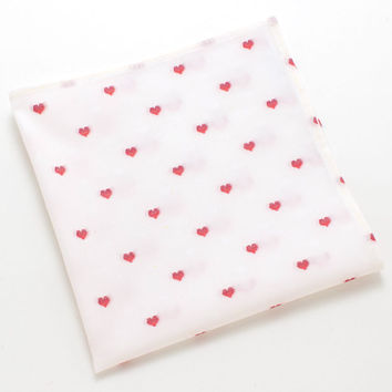 Heart Jacquard Pocket Square