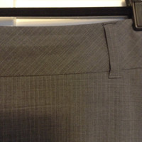 Grey Pinstripe Pencil Skirt And Suit Jacket (Banana Republic)