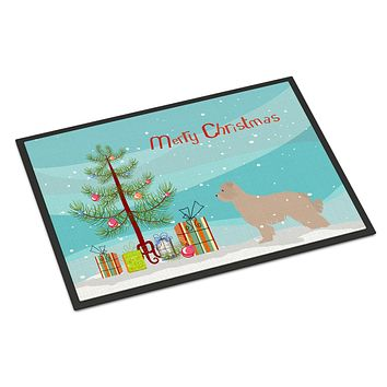 Pyrenean Shepherd Dog Merry Christmas Tree Indoor or Outdoor Mat 24x36 BB2936JMAT