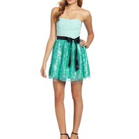 Ruby Rox Juniors Tube Sequin Party Dress