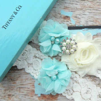Garter / Wedding Garter / Tiffany Blue Garter  / You Design / Bridal Garter / Vintage Garter / Toss  garter / Lace Garter / Garters