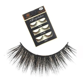Sexy Thick Long Hot Deal Hot Sale Handcrafts Luxury Soft False Eyelashes [51395330060]