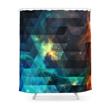 Society6 Galaxies I Shower Curtain