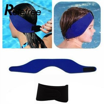 Adjustable Women Men Bathing Swimming Ear Band Headband Protector Sport Adult Kids Water Swim Head Band Neoprene Wetsuit