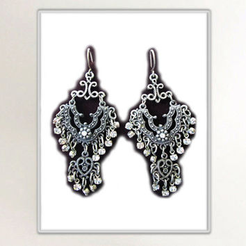 Exotic Pierced Dangle Earrings from India