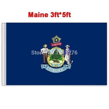 New fashion 90*150 cm Maine flag  United State American Banner Office/Activity/parade/Festival/Home Decoration