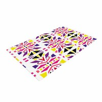 "KESS InHouse MM4106ADR02 Miranda Mol ""Summer Mood"" Yellow Purple Woven Area Rug, 4' X 6',,"