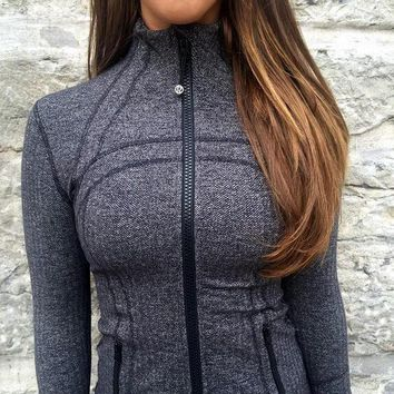 lululemon-yoga-long-sleeved-absorb-sweat-wet-coat-for-fitness-grey number 1