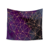 "Cafelab ""Watercolor Storm"" Purple Gold Wall Tapestry"