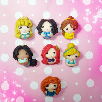 Disney Princess, Kawaii Dust Plugs Cellphone Charms, Kawaii Polymer Clay Charms, Brave Merida, Phone Charms