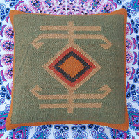 Decorative Pillow Cases Wool Jute Materal Square Cushion Covers Home Decor Traditional Indian  Jute Rough Looking Pillow Cases