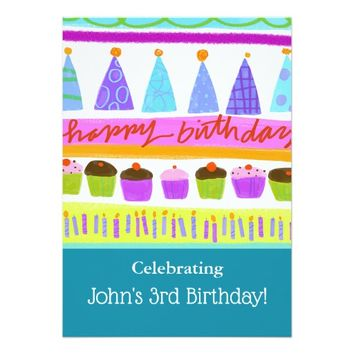 Colorful Birthday Party Celebration Invitation