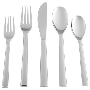 20-Pc Nora Mirror Stainless Steel Set, Flatware Place Settings