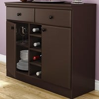 Console Table Sideboard with Storage Drawers in Chocolate