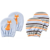 Luvable Friends Newborn Baby Boys Scratch Mitten 2-Pack, 0-6 months - Walmart.com