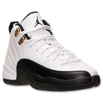 Boys  Grade School Air Jordan Retro 12 Basketball Shoes e8b1ae874b