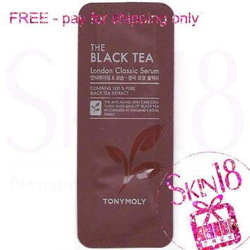 Freebies - Tony Moly The Black Tea London Classic Serum  (Sample Pack)  *exp.date 05/19