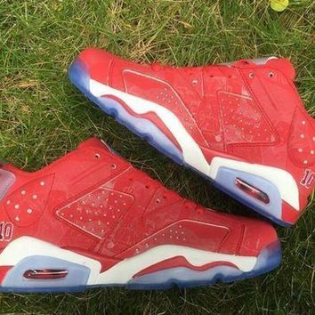 DCK7YE Air Jordan Retro 6 Slam Dunk Varsity Red with Box Men Women Size Basketball Shoes