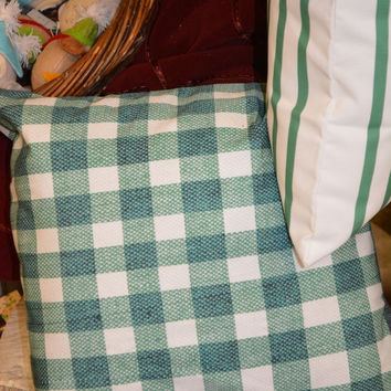 Green Check Pillow