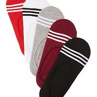 Striped No-Show Liner Socks - 5-Pack