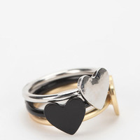 Triple Heart Ring - Set of 3