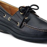 Sperry Top-Sider Gold Cup ASV 2-Eye Boat Shoe BlackLeather/Tan, Size 10.5M  Men's Shoes