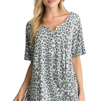 Andree by Unit Mint Cheetah Print Top
