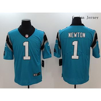Danny Online Nike NFL Jersey Men's Vapor Untouchable Color Rush Carolina Panthers #1 Cam Newton Football Jersey Blue