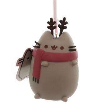 Holiday Ornaments PUSHEEN REINDEER Plastic Department 56 6000496