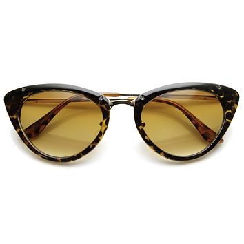 4bc7314f70c18 Womens 1950 s Mod Vintage Inspired Redesign Cat Eye Sunglasses 9454