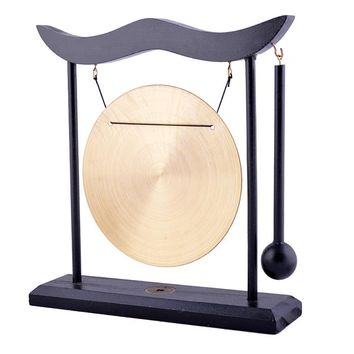 Simple Zen Meditation Brass Gong with Mallet, 8in