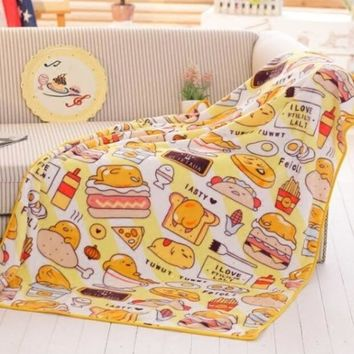 candice guo! Super cute plush toy cartoon gudetama lazy egg hamburger egg soft air condition blanket birthday Christmas gift 1pc