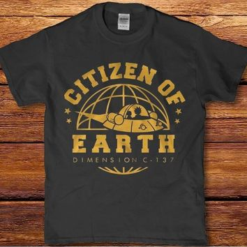 Rick and Morty Citizen of Earth dimension c -137 Men's adult t-shirt