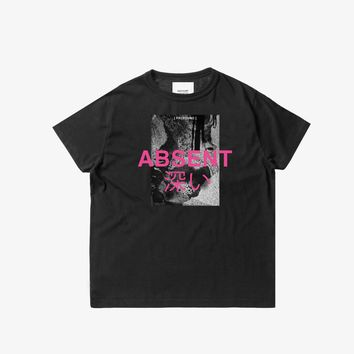 Absent Graphic Tee in Black